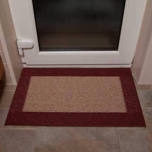 Machine Washable Door Mat In Dark And Dark Rust Amp 163 21 Amp 99
