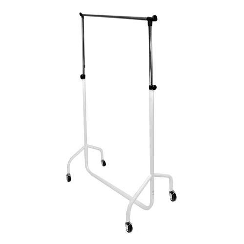 Caraselle Deluxe White & Chrome Height Adjustable 3ft Garment Rail