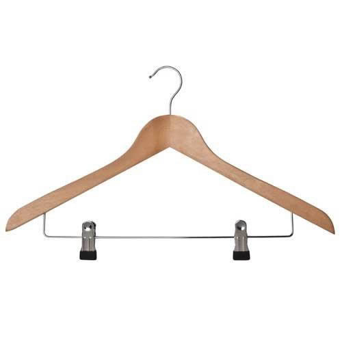 suit hangers with adjustable clips