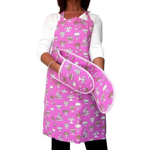 deluxe kitchen apron - oven gloves | caraselledirect