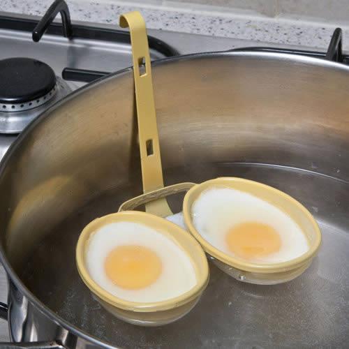 DOUBLE EGG POACHER Non-Stick Surface - Perfect Poached Eggs every ...