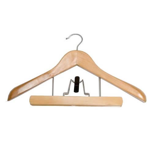 deluxe wooden combination suit hangers