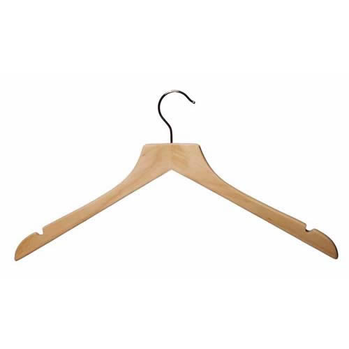 Wooden Jacket / Shirt Hanger with Notches