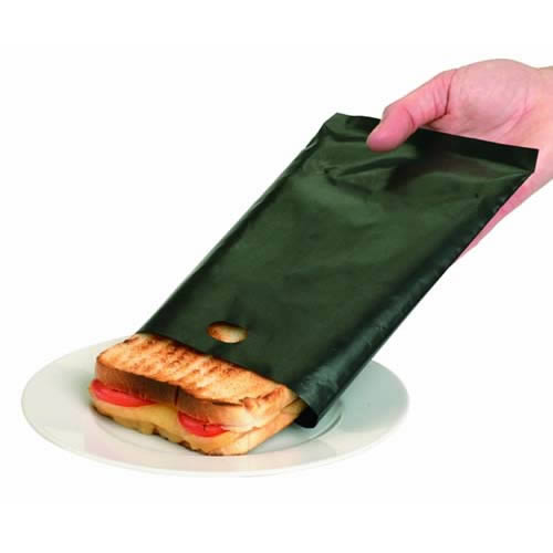 Toastabags Pack of 2. Toast sandwiches and snacks in your toaster with no mess. Can be reused up to 300 times