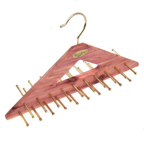 great space saving tie hanger made from 100 aromatic cedar
