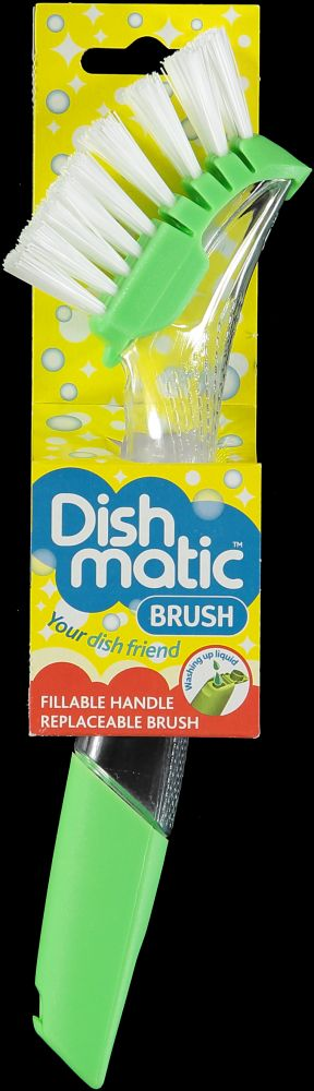The Caraselle Dishmatic Washing Up Brush with Strong Bristles