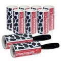 2 Caraselle Cowhide Sticky 7.5m Roller Brushes + 7 Refills