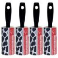The Caraselle pack of 4 x New Cowhide Design 7.5m Roller Brushes
