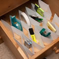 30 drawer dividers save time and effort. Without assembly required.