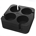 Black Muggi 4 Cup Holder