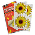 1 pack of Four window Fly Stickers - attracts & kills flies. No pesticides or odour