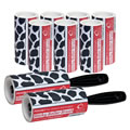 The Caraselle pack of 2 x New Cowhide Design 7.5m Roller Brushes & 7 x 7.5m Roller Refills
