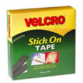Jumbo Pack of VELCRO® Brand Black Stick On Tape 20mm x 10M (60220)