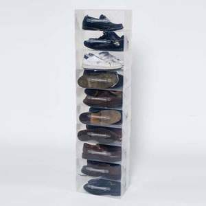 Pack of 10 Men's Clear Shoe Boxes
