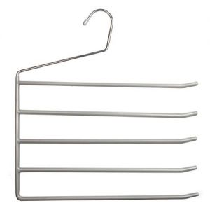 1 x Caraselle Deluxe Non-Slip Trouser Hanger Bar for 5 Pairs