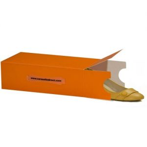 Ladies Tangerine Stackable Shoe Box 30x18x10cms made in UK