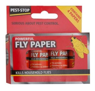 1 Pack of 4 Powerful Fly Papers from Caraselle