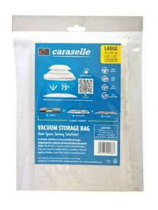 Large Vacuum Storage Bag for Jumpers/Blankets 90x55cm By Caraselle