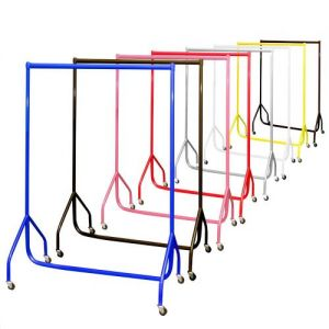 3ft Heavy Duty Pink Steel Garment Rails 92x155x50cm by Caraselle