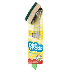 Dishmatic Washing Up Brush with Sponge from Caraselle-Colour of Handle May Vary