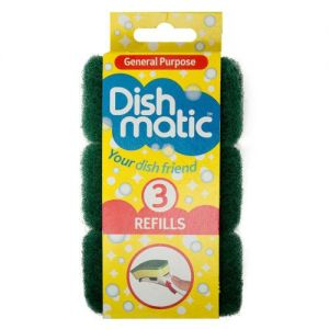 3 Dishmatic Refill Sponges