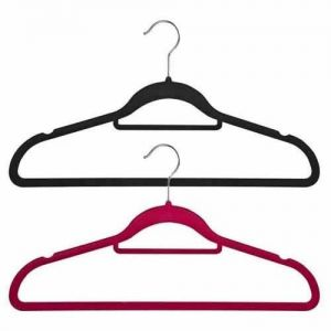 Non-Slip Huggable Hanger with Tie/Belt Bar & Notches 45cm wide & 25cm high