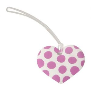 Caraselle Funky Hearts Design Luggage Labels, assorted colours
