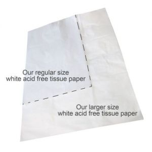 Pack of 25 Jumbo Sheets of White Acid Free Tissue Paper 750 x 1000mm