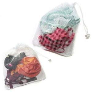 Small Net Washing Bag with Lockable Drawstring 32 x 22 cm by Caraselle