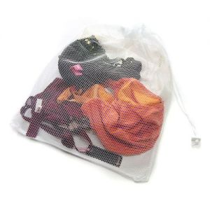 Large Net Washing Bag with Lockable Drawstring 40x48cm by Caraselle