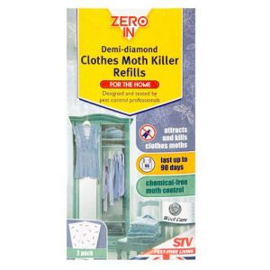 The Caraselle pack of 2 Demi Diamond Clothes Moth Killer Refills