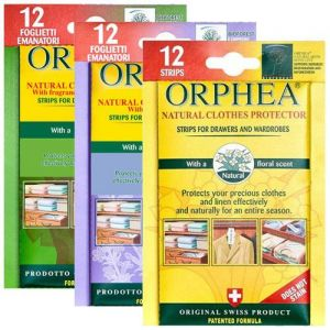 Orphea 3 x12 Moth Repellent Strips For Drawers and Wardrobes from Caraselle