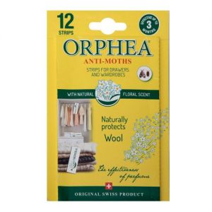12 Orphea Moth Repellent Strips For Drawers and Wardrobes from Caraselle