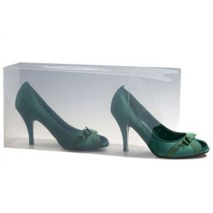 25 Ladies Stackable Clear Shoe Storage Boxes from Caraselle