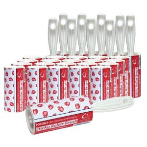 10x Caraselle Strawberry Rollers & 20x Refills 225m of sticky paper