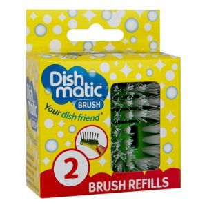 Caraselle Dishmatic Brush Refill Twin Pack