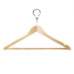 100x Budget Hotel Wooden Security Hangers from Caraselle