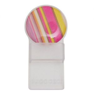 Caraselle Round Tozo Spectacle Holder Pink and Yellow Stripes