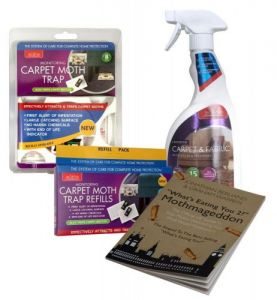 Caraselle Carpet Moth Killer Pack: Carpet Spray, Moth Trap & Refills & Moth Book
