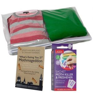 Sweater Bag Translucent Cover for Cashmere or Wool + Acana Moth Killer Sachets