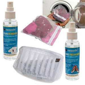Sports Laundry Pack from Caraselle: 4 Net Wash Bags + Stain Remover & Freshener