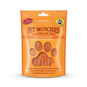 Pet Munchies Dog Treats Chicken Strips 80g -100% Natural Ingredients- 1905A