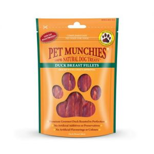 Pet Munchies Dog Treats - Duck Breast Fillets 80g - 100% Natural 1908A