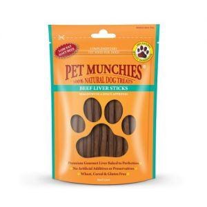 Pet Munchies Dog Treats - Beef Liver Sticks 90g - 100% Natural - 1932