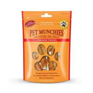 Pet Munchies Dog Treats Chicken Twists 80g - 100% Natural 1936