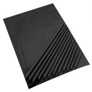 Black Acid Free Tissue Paper Premium Grade 17 GSM paper measures : 500 x 750mm (20 x 30) 25 sheets per pack