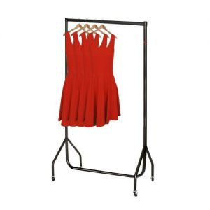 3ft Black Heavy Duty Clothes Rail 92x155x50cms from Caraselle