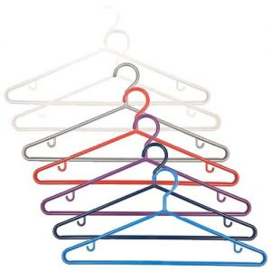 One Pack of 3 Red Plastic Hangers 43cm