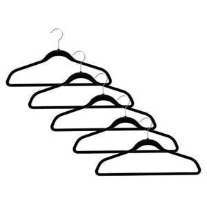 5 x Non-Slip Suit Huggable Hangers in Black 45cm wide & 25cm high