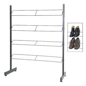 Black Steel Shoe Rack with 4 Shelves